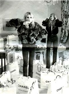 Dree Hemingway and Abbey Lee drown in Chanel bags.