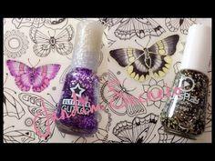 Jardim Secreto - Como colocar glitter de esmalte na borboleta? | Luciana...