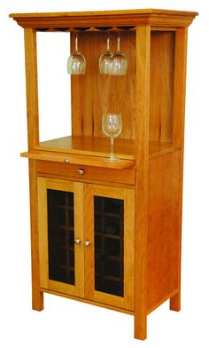 With Bottle Storage, A Stemware Rack, And Pullout Surface, This Wine Tower  Lets