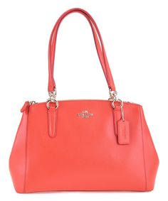 This Watermelon Leather Shoulder Bag by Coach is perfect! #zulilyfinds