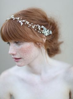 Opal blossoms crystal hair vine - Style #346