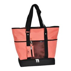 Everest Deluxe Shopping Tote Coral - Overstock Shopping - The Best Prices on Everest Travel Tote Bags
