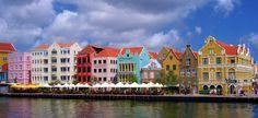 Colourful buildings of Curaçao.