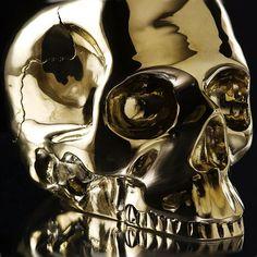 D.L. & Co. Gold Brass Skull