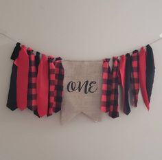 Buffalo plaid and burlap first birthday highchair and/or wall banner. Handmade by Madsy Bella Boutique and sold on Etsy. Perfect for fall and winter birthdays! Fabric Tutu, Birthday Highchair, First Birthday Banners, Wall Banner, Winter Birthday, Party Banners, Buffalo Plaid, Sell On Etsy