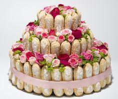 un gteau de roses pour son anniversaire