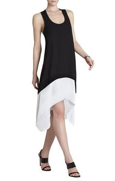 Kylie Sleeveless Blocked Dress. Love the simple tank.
