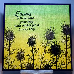 Eileen's Crafty Zone: Lavinia Stamps, a Clarity Sentiment Stamp and...... PanPastels !