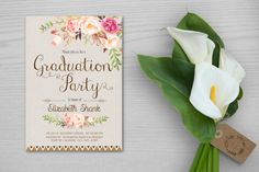 Graduation Party Invitation,Boho Floral Graduation Party Invites,College…