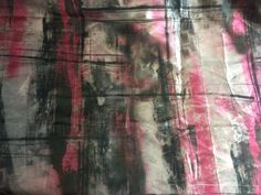 "100% Silk Mikado Satin Twill digital print, a Red, Gray and White geometric print, 1/2 yard piece, 60"" wide by PromenadeFabrics on Etsy"