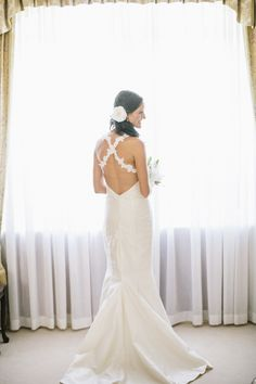Jo's wedding gown - pure Khmer silk and delicate lace flower straps