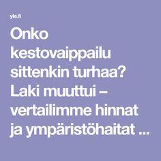 Onko kestovaippailu sittenkin turhaa? Laki muuttui – vertailimme hinnat ja ympäristöhaitat | Yle Uutiset | yle.fi