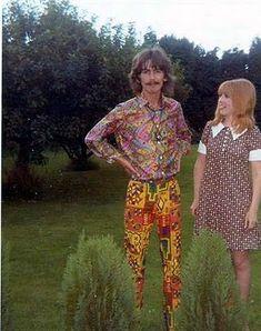 those pants ...... George Harrison & Patti Boyd 1960s Fashion, Psychedelic Pants