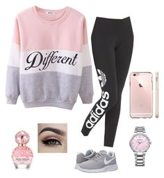 """""""Chill Day"""" by fashionpolice-123 on Polyvore featuring beauty, adidas Originals, NIKE, Swarovski and Marc Jacobs"""