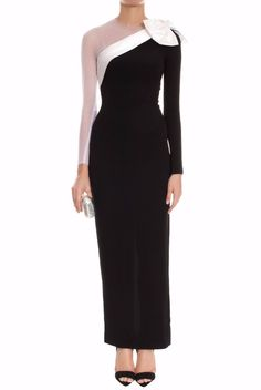 Alessandra Rich Cady One White Sleeve with Bow Detail