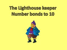 an interactive powerpoint presentation to use as a warm up or plenary activity. Focuses on number bonds to 10 - makes a great visual aid & emphasises vocab. Lighthouse Keepers Lunch, Number Bonds To 10, Year 1 Maths, British Seaside, My Father's World, Teaching Resources, Teaching Ideas, Language Activities, First Grade Math