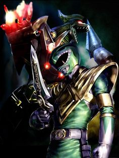 Tommy the Green Ranger & his Dragonzord. Go Go Power Rangers, Mighty Morphin Power Rangers, Ranger Verde, Dragon Ball Z, Lord Drakkon, Green Power Ranger, Tommy Oliver, Pawer Rangers, Marvel Comics Superheroes