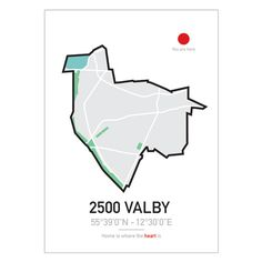 CITYMAP-BY-PLAKAT-CITY-POSTER-2500-valby-50x70