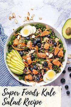 Need a delicious and satisfying detox meal? This Super Foods Kale Salad Recipe is just what you're looking for! And you won't want to miss my tips for making the kale much more enjoyable to eat raw! Healthy Salads, Healthy Recipes, Delicious Recipes, Vegetarian Recipes, Breakfast Recipes, Dinner Recipes, Beet Salad Recipes, Potato Dinner, Leftover Turkey Recipes