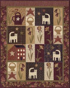 Rufus in the Garden BOM by Jan Patek Quilts