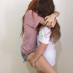 """☆. she wrapped her legs around the girl and tugged on her hair. happily biting on her lip she pulled back and grinned, """"hey again."""""""