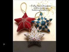 Puffy Star Beaded Ornament by Buttercupbeads.com