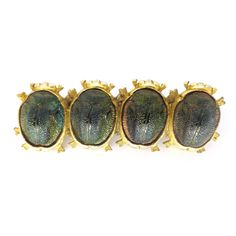 Vintage 1950s Real Scarab Gold Tone Egyptian Revival Pin Brooch | Clarice Jewellery | Vintage Costume Jewellery