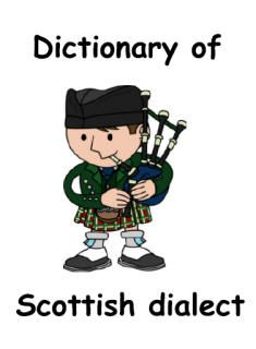 Dictionary of Scottish dialect, printable booklet for kids