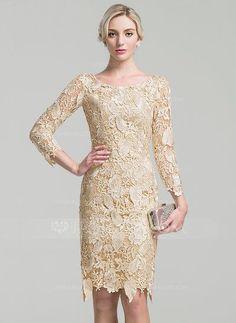 [R$ 498.09] Tubo Decote redondo Coquetel Renda Vestido para a mãe da noiva (008091944)