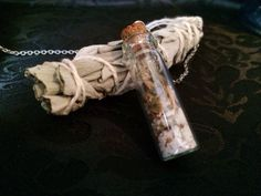 Wolfs Bane Herbal Spell Necklace for HEALING by SeasonSolstice