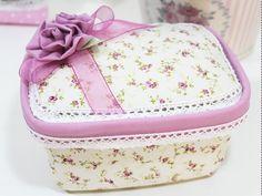 pote de margarina decorados com tecido