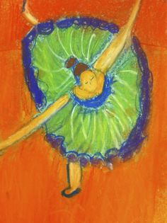 Sixth Grade - Degas Dancers project
