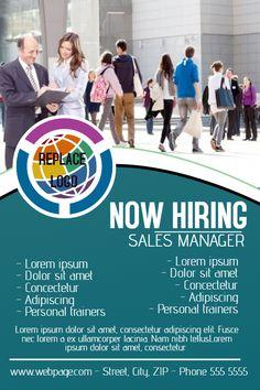 Job hiring poster design template. Click to customize. | Hiring ...
