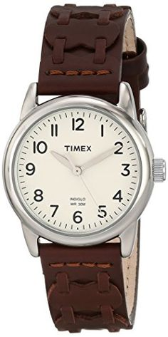 Women's Wrist Watches - Timex Womens T2N902 Weekender Watch with Brown Leather Strap *** Check out the image by visiting the link. (This is an Amazon affiliate link)