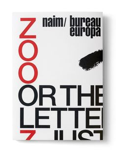 A3 invitation, folded ( Zoo; or the Letter Z, Just After Zionism')