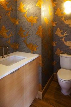 Powder Room.  Corey Martin, architect. THA Architecture. Room, Powder Room, Remodel, Corner Bathtub, Bathroom, Bathtub