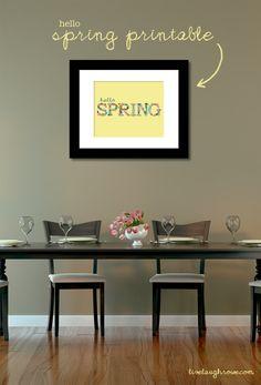 Hello Spring Printable with livelaughrowe.com