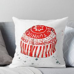 Super soft and durable spun polyester Throw pillow with double-sided print. Cover and filled options. Watercolour of a Tunnock's tea cake Tunnocks Tea Cakes, Watercolour, Throw Pillows, Cover, Products, Pen And Wash, Watercolor Painting, Cushions