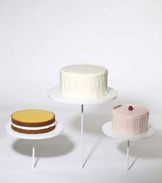 Modern Art Desserts - Caitlin Freeman's take on Wayne Thiebaud's Display Cakes, the painting that inspired it all.