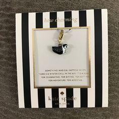 KATE SPADE How Charming Penguin Charm 12K Gold NWT #KateSpade #Traditional