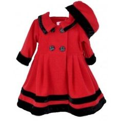 Goodlad Baby Girls Velour Trimmed Fleece Coat Velour Trimmed Fleece Coat 24 Months * You can find out more details at the link of the image.
