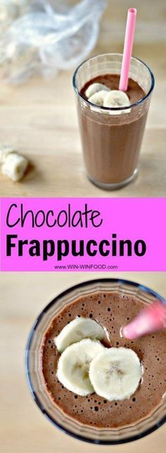 Extra decadent, thick and foamy but without all the refined ingredients, this chocolate frappuccino is an iced coffee drinker's dream come true! Tasty Vegetarian Recipes, Good Healthy Recipes, Delicious Vegan Recipes, Paleo, Frappuccino, Vegan Treats, Vegan Desserts, Vegan Food, Sin Gluten
