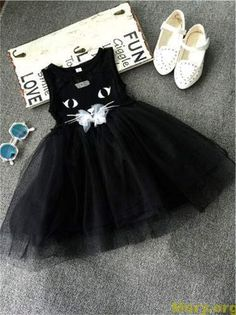 Cheap princess girl dress, Buy Quality girls dress directly from China kids dresses for girls Suppliers: Summer Princess Girls Dress Black Kitty Cartoon Kids Dresses For Girl Clothes Children Vestidos Costume Roupas Infantis Menina Little Dresses, Little Girl Dresses, Girls Dresses, Flower Girl Dresses, Fashion Kids, Little Girl Fashion, Princess Party Costume, Princess Tutu, Tulle Dress