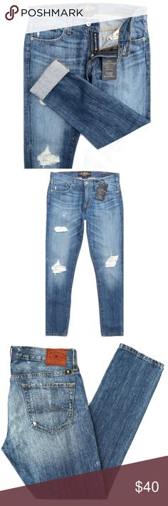 """NEW Lucky Brand Sienna Cigarette Jeans Brand new Lucky Brand Sienna Cigarette jeans. Medium blue, distressed/destroyed wash. Cotton. Size 2/26. They have a 8"""" rise and 29"""" inseam. Amazing fit! Lucky Brand Jeans"""