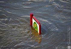 Bilder vom Hochwasser am Elbufer in Dresden