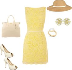 Yellow, created by hekelly on Polyvore