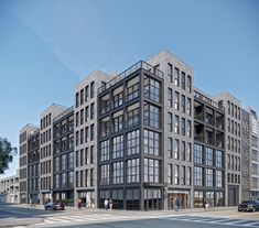 Morris Adjmi Architects has been working hard, juggling projects like 550 Clinton Avenue and 211 Schermerhorn Street in Downtown Brooklyn to Building Exterior, Building Facade, Team Building, Facade Architecture, Contemporary Architecture, Facade Design, Exterior Design, Apartment Design, Minimalist Home