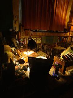 Vita Sackville-West's desk in the tower ar Sissinghurst.