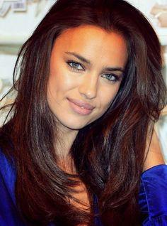 Irina Shayk--- Chocolate Brown hair <3 <3