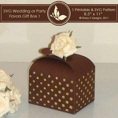 SVG wedding or party favors gift box 001 | Mygrafico | Mygrafico